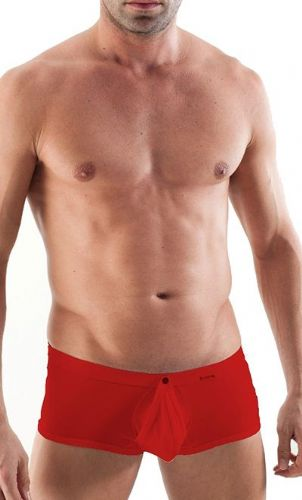 GERONIMO Mens Underwear On/Off Boxer Red Low Rise, Open front 1353b1